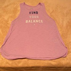 """Find your Balance"" workout shirt"